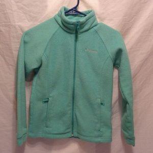 Columbia Girls Green Zip Up Fleece